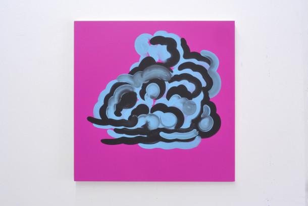 Cumulus, 2016. Acrylique sur toile, 80x80 cm copie