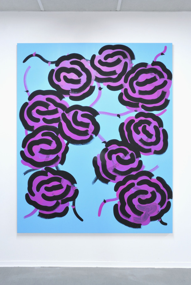 Roses roses-noires, 2017. Acrylique sur toile, 220x180 cm copie