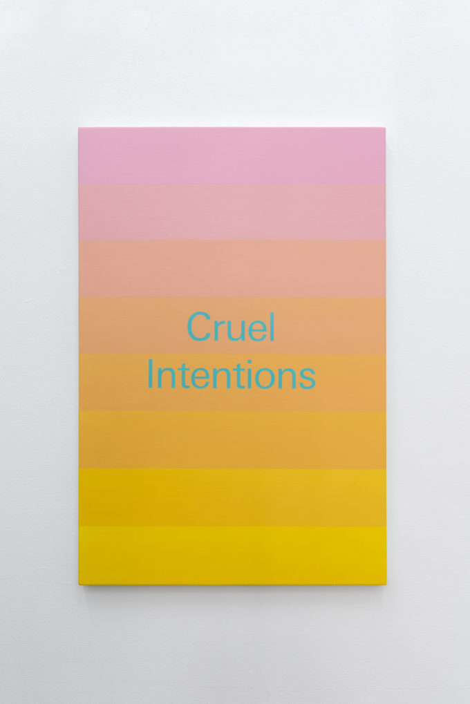 """Cruel Intention"", 2019 oil and acrylic on aluminium 61 x 41 cm (24 x 16 in) € 4,100.00 (ex tax) available"