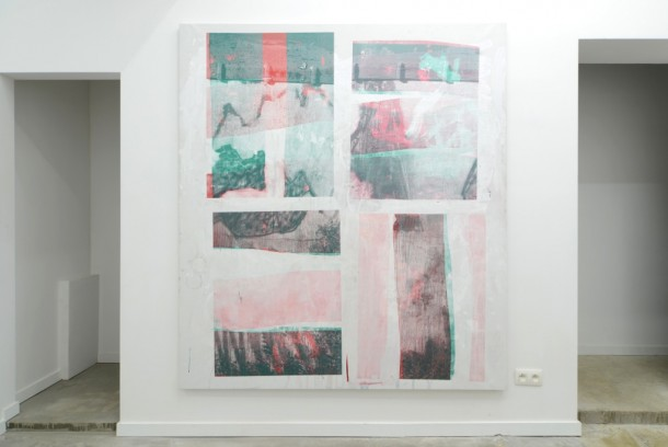 10/08/2012 n°7 - 2013 - acrylic, silkscreen on canvas - 200 x 190 cm