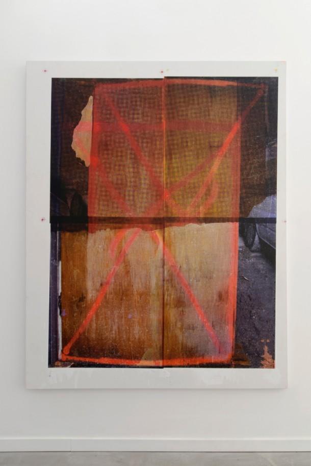 Croix sur Panneau n°3, 2014 - silkscreen & acrylic on canvas - 200 x 160 cm