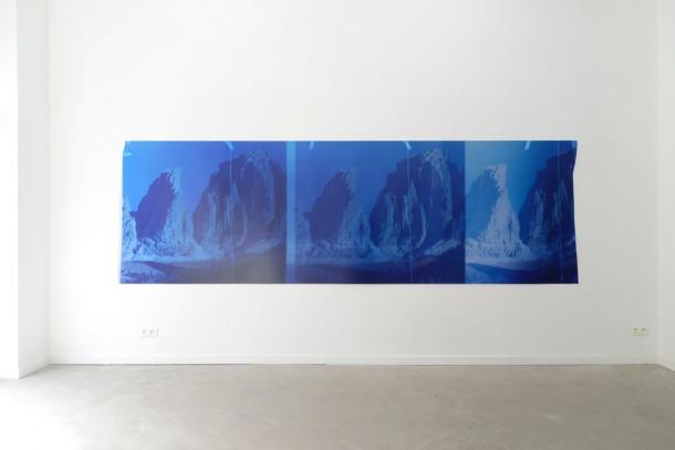 """Sebastien Bonin, """"Travelling (Sunset Red I), 2015"""