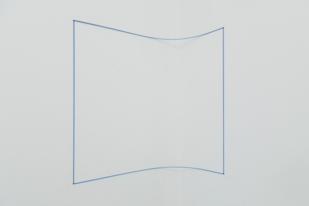 Fred Sandback, Blue Day-glo Corner Piece 1968-2004